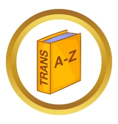 Translation book icon vector image vector image