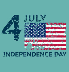 4th july independence day grunge american flag vector image