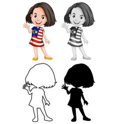 a malasian girl character vector image