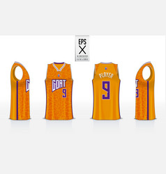Basketball uniform template design for basketball vector
