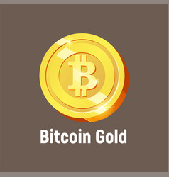 bitcoin gold logo vector image