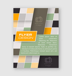 Business flyer template brochure or corporate vector