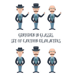 Cartoon gentleman set vector