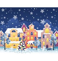 Christmas street vector image