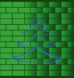christmas tree wall background vector image