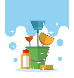 Cleaning kit concept vector