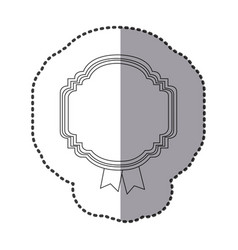contour emblem with symbols inside icon vector image