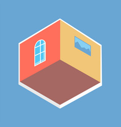 cute flat isometric view colorful poster vector image