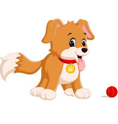 Cute funny smiling dog vector