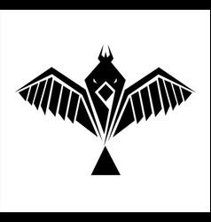 dove logo flying bird falcon vector image