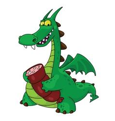 dragon with sausage vector image