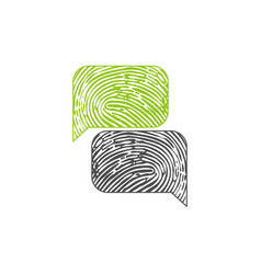 encripted chat bubbles vector image
