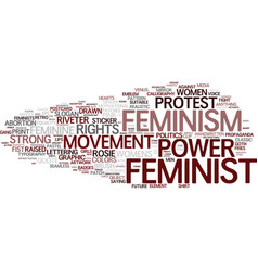 Feminist word cloud concept vector