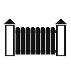 Fence with turret icon simple style vector