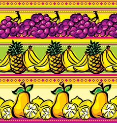 Fruit striped seamless vector