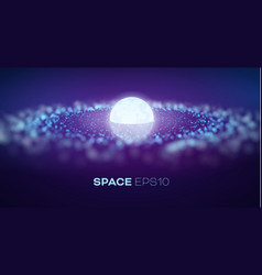 Galaxy in abstract style on light background vector