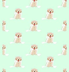 golden retriever dog bride on green mint vector image
