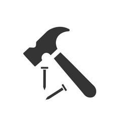 Hammer repair icon vector