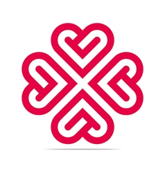 Heart abstract logo design business vector