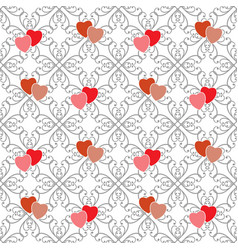 heart heart on abstract square fashion graphic vector image