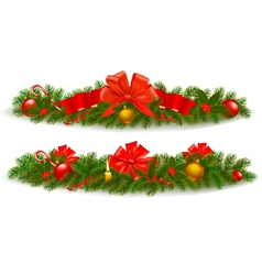 Holiday christmas garlands vector