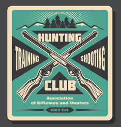 Hunting club shooting training poster vector