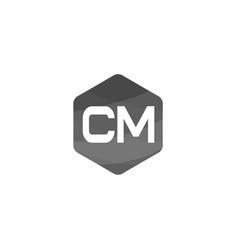 initial letter cm logo template design vector image