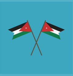 Jordan flag icon in flat design vector