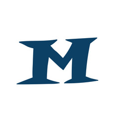 latin letter m logo for company icon for the vector image