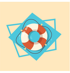 life buoy icon summer sea vacation concept vector image vector image