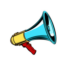 Megaphone isolate on white background vector