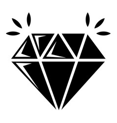 Mine diamond icon simple style vector