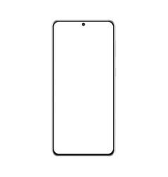 Modern frameless smartphone mockup isolated vector