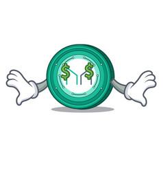 Money eye maker coin mascot cartoon vector