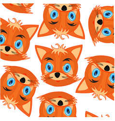 mug animal fox decorative pattern on white vector image