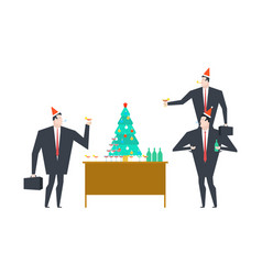 New years corporate party christmas in office vector