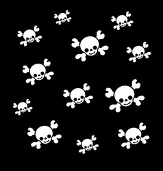 pirates skull texture vector image