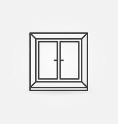Plastic window icon in thin line style vector