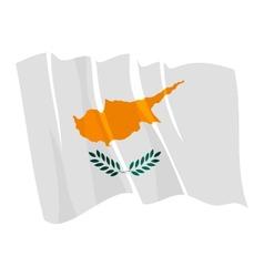 Political waving flag cyprus vector