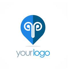 Position gps logo vector