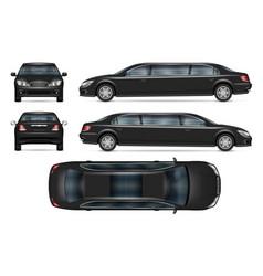 Realistic limousine mock-up vector