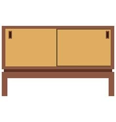 Retro furnite tv cabinet vector image