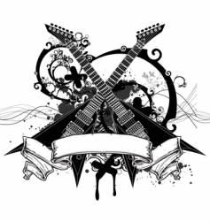 rock music graphic vector image