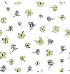 Seamless clover background vector