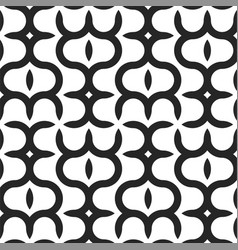 seamless geometric pattern - modern black and vector image