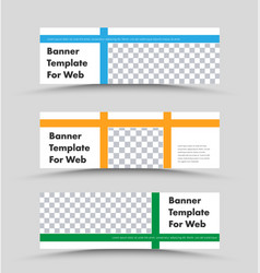 set horizontal white banners with a place vector image