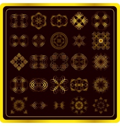 Set of fine gold elements vector image