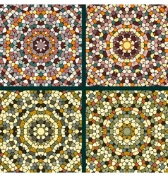 Set of mosaic background vector image