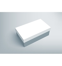 Shoes product cardboard package box vector