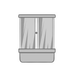 Shower cabin icon black monochrome style vector